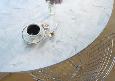 4 9310 White Marble Herringbone