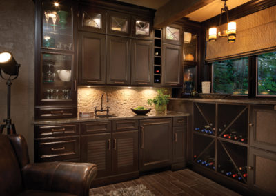 Beautiful Dark Wet Bar