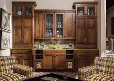 Wet Bar with Large Cabinets