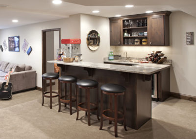 Wet Bar with Bar Seating