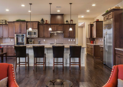 Kitchen with Mocha Cabinets from Shiloh