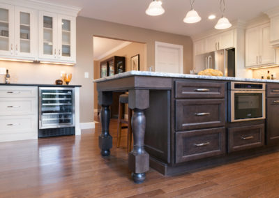 Kitchen with White Smoke Cabinets from Shiloh