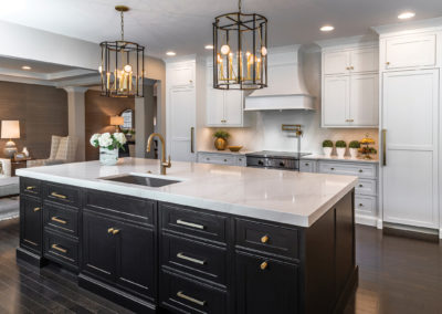 Kitchen with Arctic Black Cabinets from Shiloh