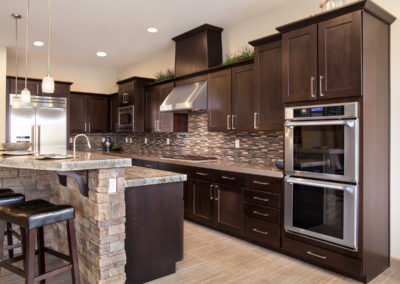 Kitchen with Chocolate Cabinets from Shiloh