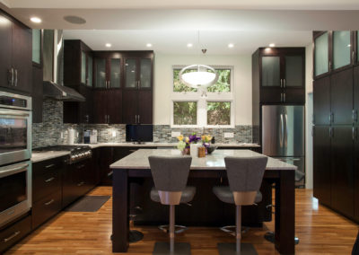 Modern Kitchen with Espresso Cabinets from Shiloh