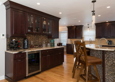 Kitchen with Black Maple Cabinets from Shiloh
